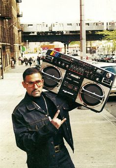 Boom boxes like this and the people who lugged them around everywhere are always going to be bad asses to me.