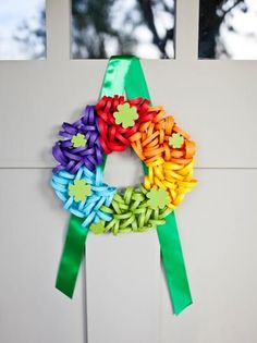 Add texture and interest with a burlap fabric wreath. Perfect for everyday decor, the wreath can also easily be embellished for any holiday. Easy Crafts For Kids, Easy Diy Crafts, Crafts To Make, Fabric Wreath, Burlap Wreath, Burlap Fabric, Cotton Wreath, Diy Yarn Ornaments, Rainbow Crafts Preschool
