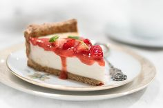Strawberry Cheesecake ❤️ das Rezept für diesen Käsekuchen ist vegan und ohne Zucker