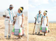 Traditional Xhosa Wedding by Monica Dart {Tembakazi & Mateli} South African Wedding Dress, South African Weddings, African American Weddings, Xhosa Attire, African Attire, African Dress, African Clothes, African Inspired Fashion, African Fashion