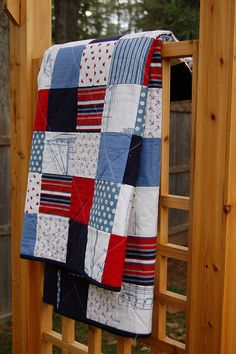 Nautical Quilt by thepinkpaintedgiraffe, via Flickr