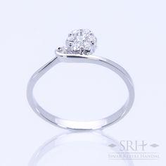 28288 18Karat White Gold Weight 1.41gr Ring Size 12.50 0.113 Total Carat = 6 Rounds Diamond 0.040 Total Carat = 1 Rounds Diamond