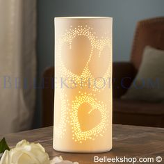 The Belleek Shop Belleek Pottery, Mood Lamps, Top Gifts, Engagement Gifts, Design Elements, Wedding Gifts, Table Lamp, Contemporary, Crystals