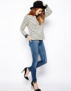 Image 4 ofASOS Ridley Supersoft High Waisted Ultra Skinny Jeans In Mid Stonewash
