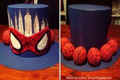 Spider-Man Easter Hat | Spider-Man Easter Bonnet made by Jodie Gale for kindy Easter Hat Parade | #Easter