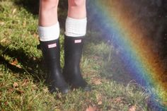 Rain or shine in Hunter boots. #urbanoutfitters