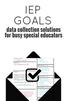 Time-saving solutions for IEP goal and objective tracking. Add this system to collect, track, and communicate data with this FREE masterclass and editable template. From Special Educators Resource Room