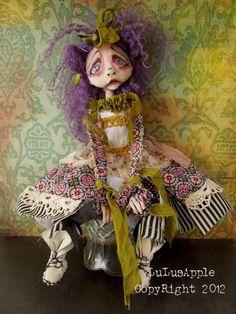 Art Doll Victorian Goth sad doll OOAK Ceeley