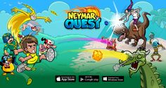 """Landing page para o jogo """"Neymar Jr Quest.com"""""""
