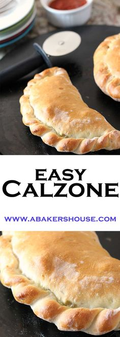 Easy to make homemade calzone. Dough folded around sauce and fillings makes a wonderful baked calzone. King Arthur Flour recipe Pizza Calzone Recipe, Calzone Dough, Homemade Calzone, Gluten Free Calzone Recipe, Cheese Calzone Recipe Ricotta, Breakfast Calzone Recipe, Flour Recipes, Pizza Recipes, Baking Recipes