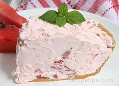 Watermelon Pie Recipe - simple, light, and cool