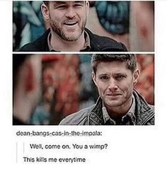 Omg I haven't bawled as hard through most of the other deaths on the show as I do with this moment Supernatural Sad, Castiel, Super Natural, Misha Collins, Funny Me, Baby Daddy, Family Business, Superwholock, Johnlock