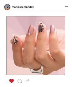 Mani of the Week: BCA Nails with Geometric Accents