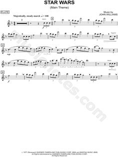 """Star Wars (Main Theme) - Flute"" from 'Star Wars' Sheet Music (Flute Solo) - Download & Print"