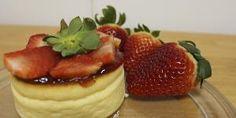 Tarta de queso japonesa muy fácil y original - ¡LA MEJOR! Food Cakes, Le Chef, Cake Recipes, Cheesecake, Strawberry, Pudding, Cupcakes, Fruit, Breakfast