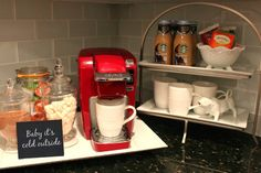 Love the red Keurig!  Southern State of Mind: {Deck the Halls} Southern State of Mind Christmas Home Tour