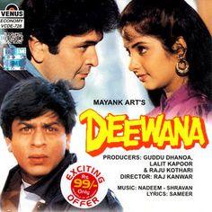 SRK, Divya and Rishi - Deewana (1992)