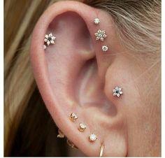 pretty little earrings for helix or tragus piercings