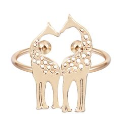 Min 1 pc Adjustable Giraffe Ring Aniamdl band Women Jewelry Sweet Romantic Gift Best Jewelry