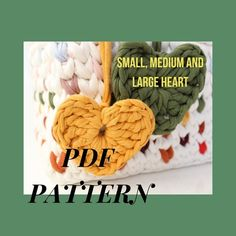Pendant with picture PDF, Gifts for knitters, Digital Goods heart pattern, Knitted applique, Colorful hearts Crochet Circle Pattern, Crochet Circles, Pdf Patterns, Heart Patterns, Crochet Patterns, Applique, Handmade Items, Handmade Gifts, Tiny Heart