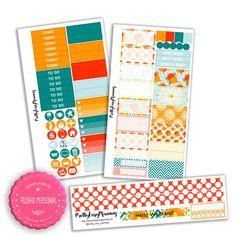 Sommerblumen Planner Sticker Kit für Filofax Personal / Kikki K Medium von PrettyEasyPlanning auf Etsy
