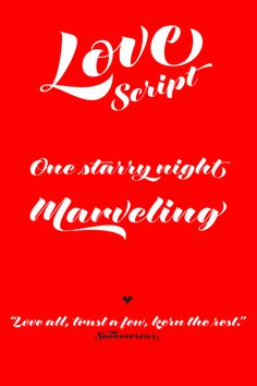 Love Script, a brush pen lettering style typeface by Neil Summerour of Positype.