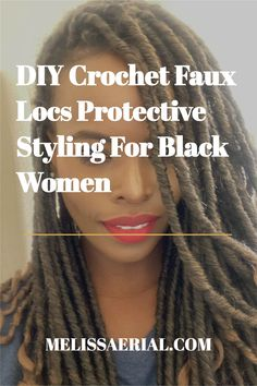 Protective styling with crochet locs. #protectivestyle Try New Hairstyles, Cute Natural Hairstyles, Faux Locs Hairstyles, Protective Hairstyles For Natural Hair, Black Women Hairstyles, Long Natural Hair, Natural Hair Updo, Natural Hair Styles For Black Women, Natural Baby