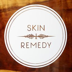 Our beautiful logo thanks to pam bates!!! Hand painted on wood. www.skinremedysf.com