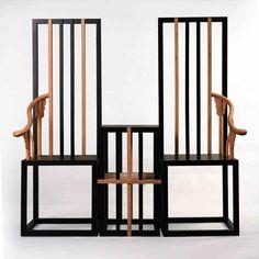 風骨設計會所酒店成套家具現代新中式實木圈椅茶幾套裝[傲骨]-淘寶網