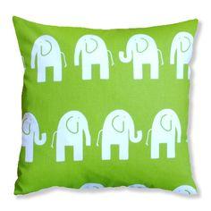 Green Elephant Childrens Handmade Cushion