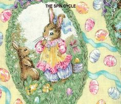 1 Fat Qtr Holly Pond Hill SPRING RABBITS Bunny Easter Chicks Eggs Susan Wheeler  #WoodrowStudios