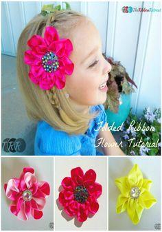 Folded Ribbon Flower - The Ribbon Retreat Blog