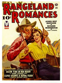 There's moon fire in her heart. #vintage #1940s #cowboys #magazine
