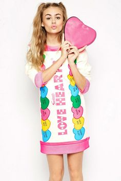 Cute 'LOVE HEARTS' Tunic Dress