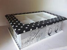 Resultado de imagen para cajas de te decoradas con decoupage