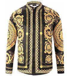 Pizoff Mens Long Sleeve Luxury Design Print Dress Shirt Y1792-18 Mode Homme,  Chemises 18809e7687d