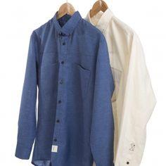Hempact | Blue Shirt in hemp and PET #vegan #ecofriendly #veganshop #hemp #orcanic #pet #recycling #organicclothes Pet Recycling, Vegan Shopping, Hemp, Blazer, Clothing, Jackets, Shirts, Fashion, Outfits