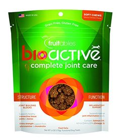 Fruitables BioActive Complete Joint Care Functional Chewy Treats 6 oz * Read more at the affiliate link Amazon.com on image.