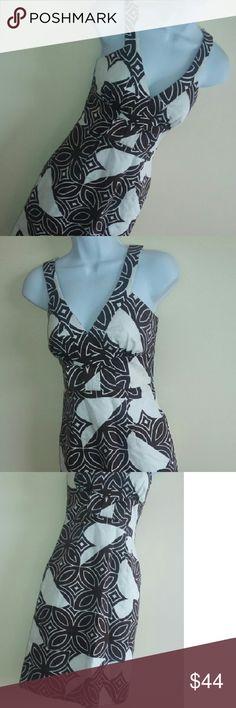 Flash Sale Trina Turk Like New Stunning Dress 2 Stunning!  Brown and white.  Like new. Trina Turk Dresses
