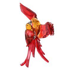 Swarovski Red Parrots Figurine