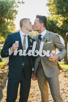 A Bright, Blue and Gold Wedding at Viansa in Sonoma, California