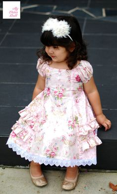 This listing is for the Instant Download PDF sewing pattern and tutorial on how to make this beautiful dress, not the finished garment! ******TO
