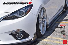 Take a look at the White Stanced Mazda 3 Make Over photos and go back to customizing your vehicle with renewed passion. Jdm Tuning, Mazda 3 Hatchback, Vehicles, Gallery, Toys, Cars, Activity Toys, Roof Rack, Clearance Toys