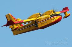 Canadair CL-215-6B11 (Series CL-415) - Gouvernement du Québec, Service aérien gouvernemental. Taking off from Van Nuys Airport. Amphibious Aircraft, Bomber Plane, Ground Effects, Float Plane, Flying Boat, Train Car, Hot Shots, Amphibians, Firefighter
