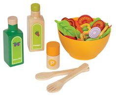 Amazon.com : Hape - Playfully Delicious - Garden Salad - Play Set : Toy Foods : Toys & Games