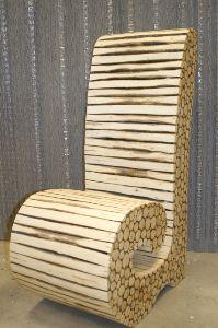 Houten design stoel PTMD prijs 244,-