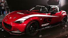 Track-prepped 2015 #Mazda #Miata #MX5 at #Sema in #Vegas.