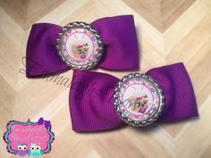 A personal favorite from my Etsy shop https://www.etsy.com/listing/217811474/bowtie-pigtail-hair-bows-purple-easter
