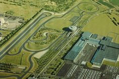 the test track at Porsche Leipzig with plenty of sharp turns!!! eeeee SO excited to see where Frank and Baby Frank were born!!