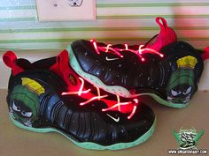 hot sale online 45890 986dc marvin the martian nike foamposite custom sneaker fairy fetti dbiasi